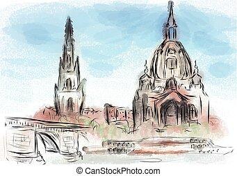Dresden abstract illustration