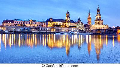 Dresden at night, Germany
