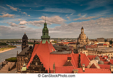 Dresden from the roof, Dresden, Germany, 2013