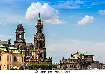Dresden in a beautiful summer day