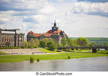 Dresden in a beautiful summer day, Germany