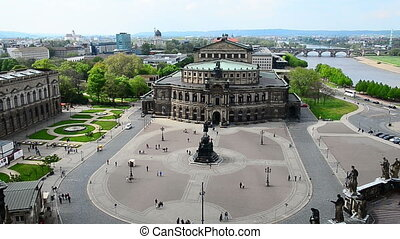 Dresden Semperoper - view to the Semperoper in Dresden. The...