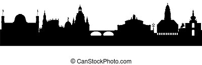 Dresden Silhouette black abstract