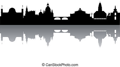 Dresden Skyline abstract