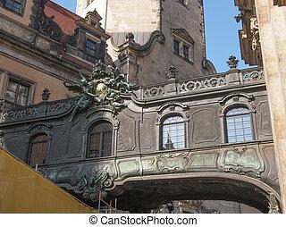 Dresdner Schloss - DRESDEN, GERMANY - JUNE 11, 2014:...