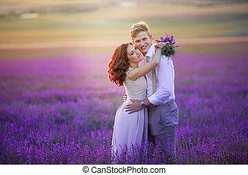 dress., öltözött, házas, lovász, menyasszony, esküvő, után, ceremony.