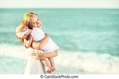 dress., 家族, 抱擁, 空, 母, 赤ん坊, 白, 幸せ