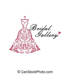 Dress Boutique Bridal Logo Ideas Illustration Vector Design...