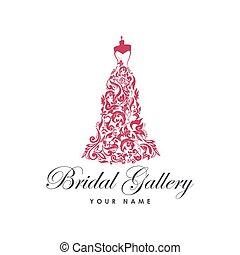 Dress Boutique Bridal Logo Illustration Vector Design - ...