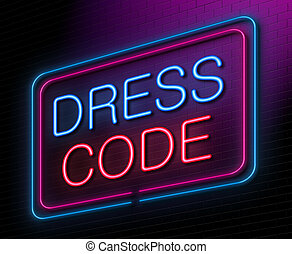 Dress code concept. - Illustration depicting an illuminated...