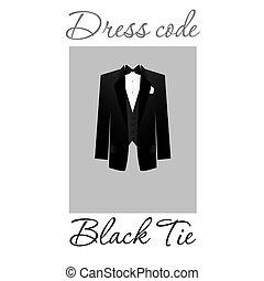 dress code - Dress code. Options. Vector.