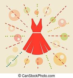 Dress. Concept illustration