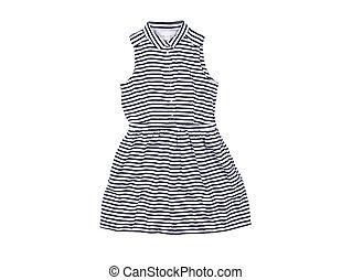 dress for girl on white background