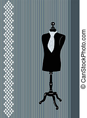 Dress form  - vector illustration