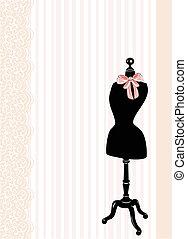 Dress form - vector illustration
