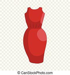 Dress icon, cartoon style