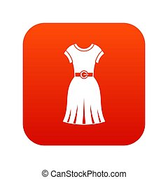 Dress icon digital red