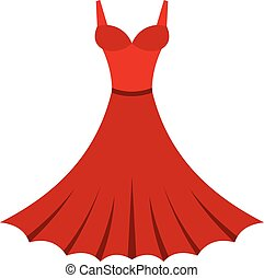 Dress icon, flat style