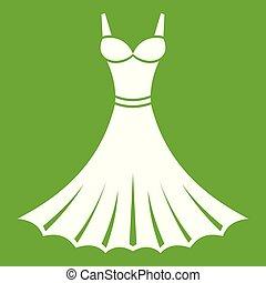 Dress icon green