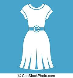 Dress icon white
