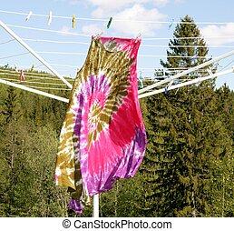 Dress on a clothesline