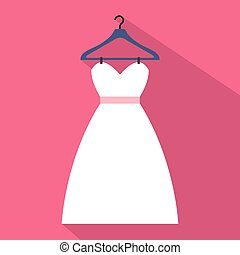 Dress on a hanger flat icon
