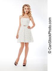 dress., romanticos, noiva, couture, casório, branca, modelo