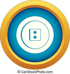 Dress round button icon blue vector isolated