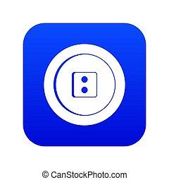 Dress round button icon digital blue