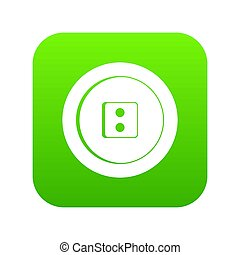 Dress round button icon digital green