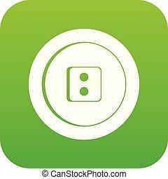 Dress round button icon digital green