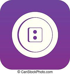 Dress round button icon digital purple