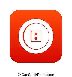 Dress round button icon digital red