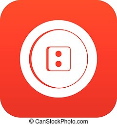 Dress round button icon digital red