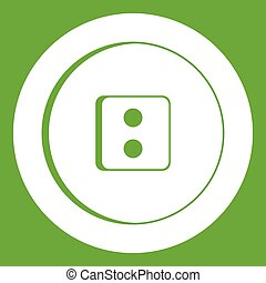 Dress round button icon green