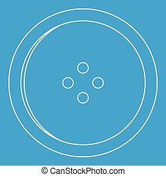 Dress round button icon, outline style