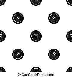 Dress round button pattern seamless black