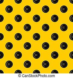 Dress round button pattern