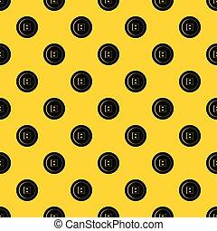 Dress round button pattern vector
