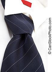 Dress shirt and tie. Career. Business. Employement. - White...