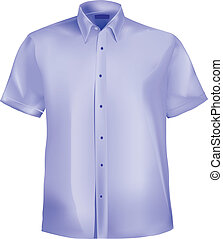 Dress shirt with collar and half sleeves