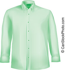 Dress shirt with collar and sleeves