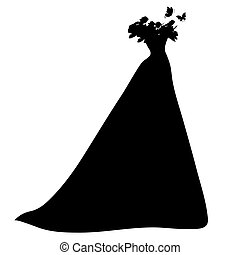 dress, silhouette - it is done in an illustrator