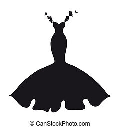dress, silhouette - it is done in an illustrator