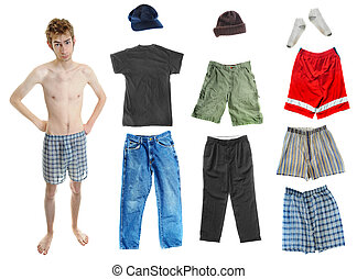 Dress-Up Teen Clothes - A young white Caucasian adult...