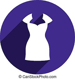 Dress vector icon isolated.