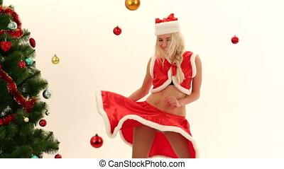 Dressed as Santa