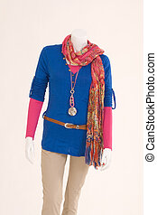 dressed mannequin with a sweater an