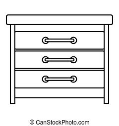 Dresser icon, outline style
