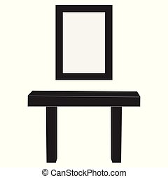 Dresser with mirror - Makeup dresser and mirror isolated on...